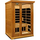 Crystal Sauna LC200 2-Person Luxury Infrared Sauna in Red Cedar