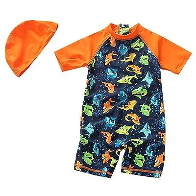 ebb4f62fc7 Sunsuits TAIYCYXGAN Baby Girls Boys Zip Up Swimsuit Kids One Piece Bathing  Suit Rash Guards Swimwear ...