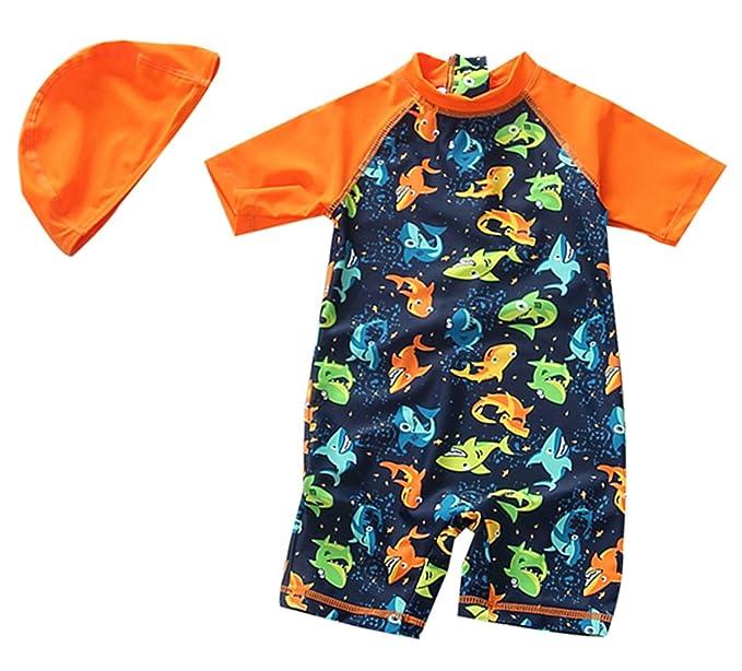 Amazon com: TAIYCYXGAN Sun Protective Baby Boys Swimsuit