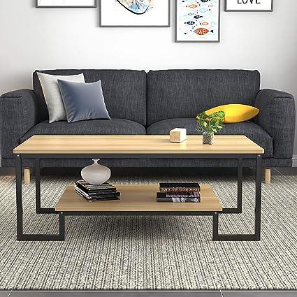 Amazon.com: LF Modern Minimalist Living Room Coffee Table ...