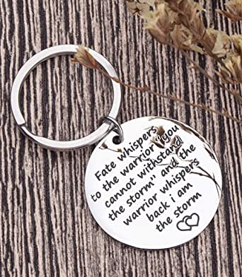 Encouragement Keychain For Teen Girls Boys Women Men Motivational Inspirational Gifts I Am The Storm Key Chain For Teenage Son Daughter Gifts Key Ring Birthday Presents For Him Her Dog Tag