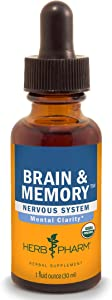 Herb Pharm Brain and Memory Liquid Herbal Formula with Ginkgo for Memory and Concentration- 1 Ounce (FGG01)