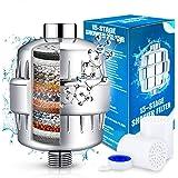 Filtro Ducha Universal, 15 Capas Filtro Antical Ducha, Incluye 2 Cartuchos de Filtro Reemplazable- Purificador de Agua…