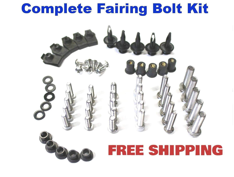 Amazon.com: Complete Motorcycle Fairing Bolt Kit Suzuki GSX-R 600 ...