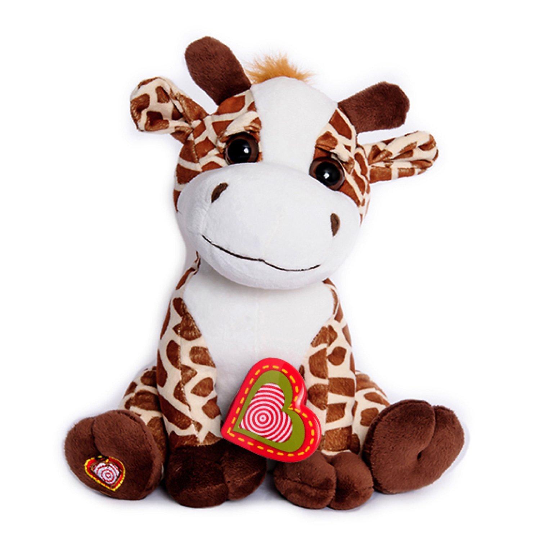 Amazon Com My Baby S Heartbeat Bear Giraffe Stuffed Animal W 20