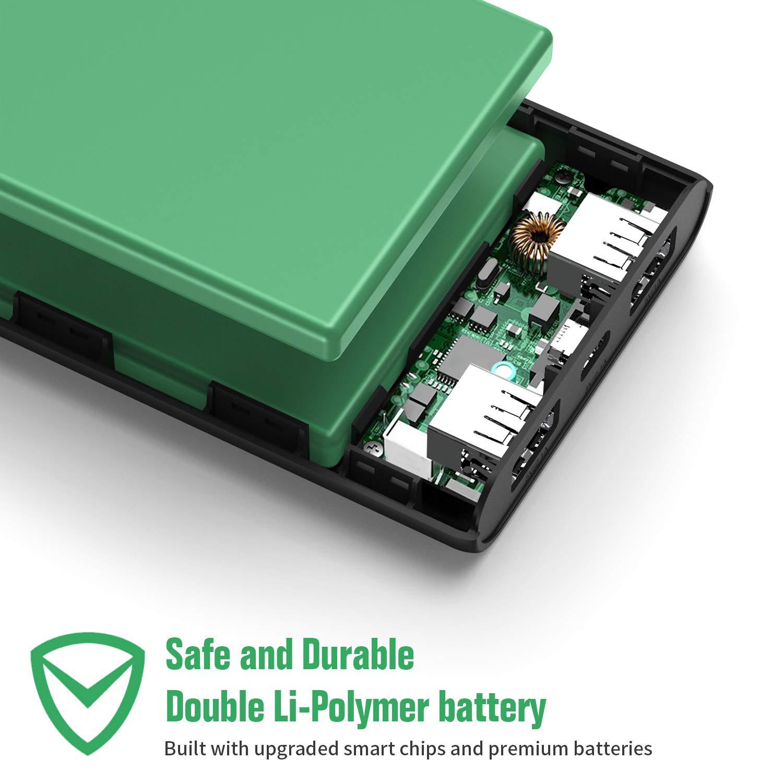 Portable Chargeur 2 Ports USB Sortie Haute Vitesse Batterie de Secours Compatible avec iPhone iPad Samsung Huawei Sony Wiko HETP Batterie Externe 24800mAh Haute Capacit/é Power Bank Garantie 24 Mois