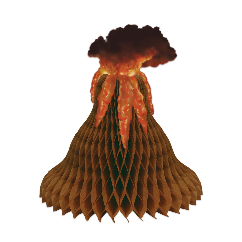 Beistle Tissue Volcano Centerpiece   Tiki & Tropical Island Party Decoration (3-Pack)