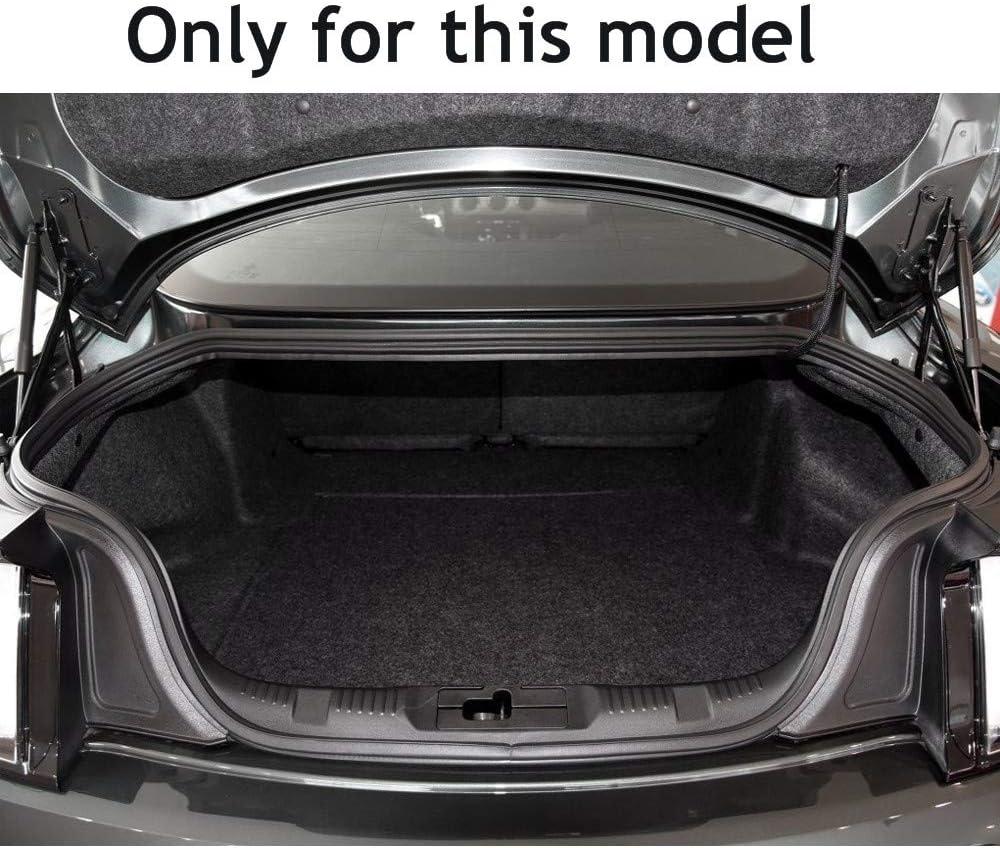 Jiahe Auto Kofferraumschutzmatte F/ür F ord Mustang 2015-2019 Allwetter-Antirutsch Leder Kofferraumwanne Wasserdicht Kofferraum Schwarz