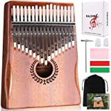 Kalimba 17 Keys Thumb Piano, Easy to Learn Portable Musical Instrument Gifts for Kids Adult Beginners with Tuning Hammer and