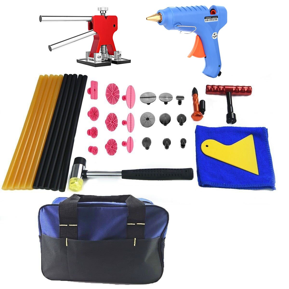 Amazon.com: Furuix PDR Kit Glue Dent Puller Auto Body Removal Tools Paintless Repair Hail Tool Kits Starter Kit: Automotive