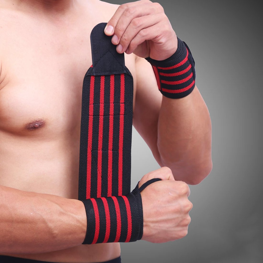 YISUYA Wrist Wraps Fitness Wrist Support Braces Belt Protector for Weightlifting, Cross Training, Workout, Gym, Powerlifting, Bodybuilding, Suitable for Men Women by YISUYA