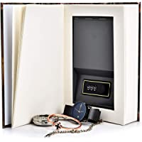 Real Pages Portable Secret Book Hidden Safe with Combination Lock - Hollowed Out Book with Hidden Compartment for…