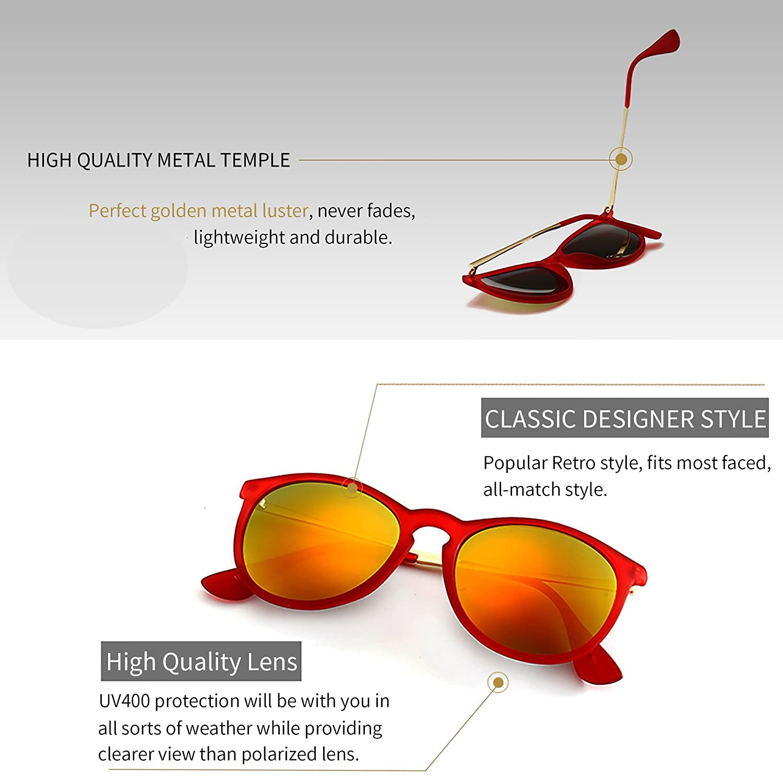 ad78ab7b870 SUNGAIT Vintage Round Sunglasses for Women Classic Retro Designer Style  SUNGAIT9951009 larger image