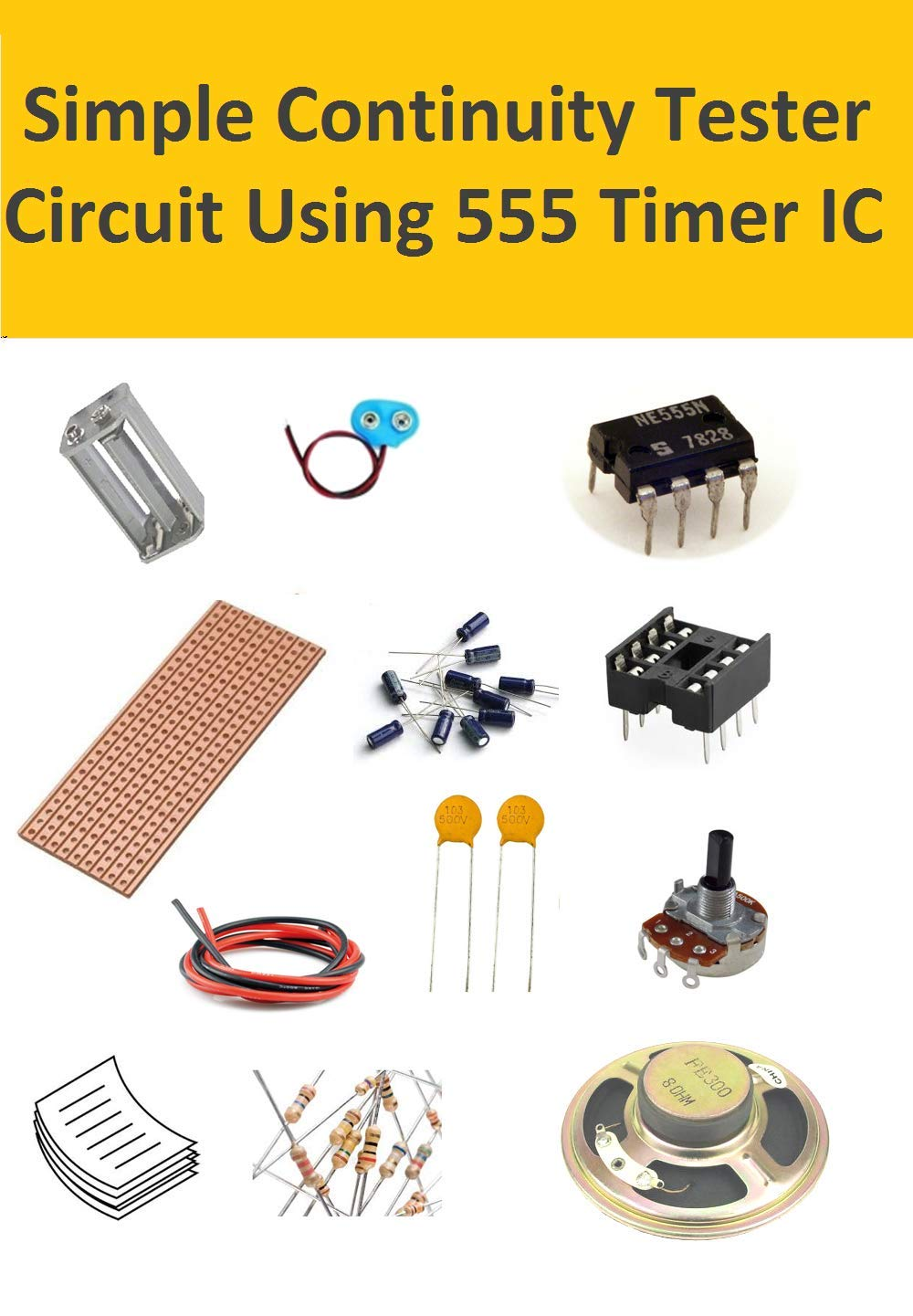 Simple Continuity Tester Circuit Using 555 Timer Ic Car Alarm Diagram Electronic Industrial Scientific