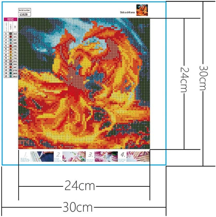 Staron DIY 5D Diamond Painting by Number Kit Full Drill for Adult Kids Beginner Rhinestone Embroidery Square Drills Cross Stitch Supply Arts Craft Canvas Wall Decor C