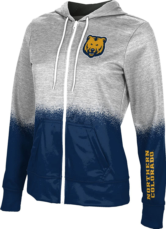 University of Northern Colorado Womens Zipper Hoodie Spray Over School Spirit Sweatshirt