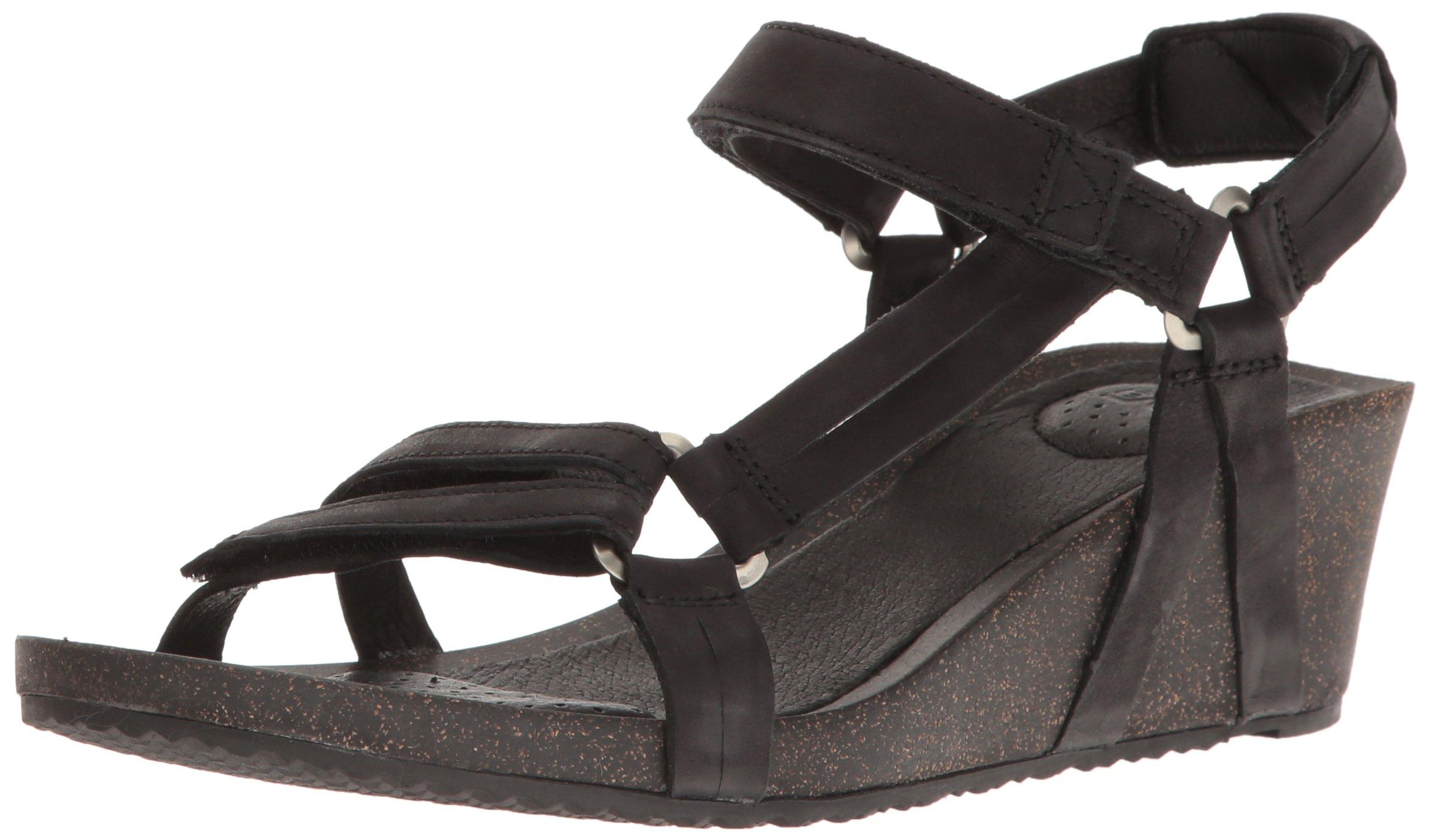 Teva Women's W Ysidro Universal Wedge Sandal, Black, 8 M US by Teva