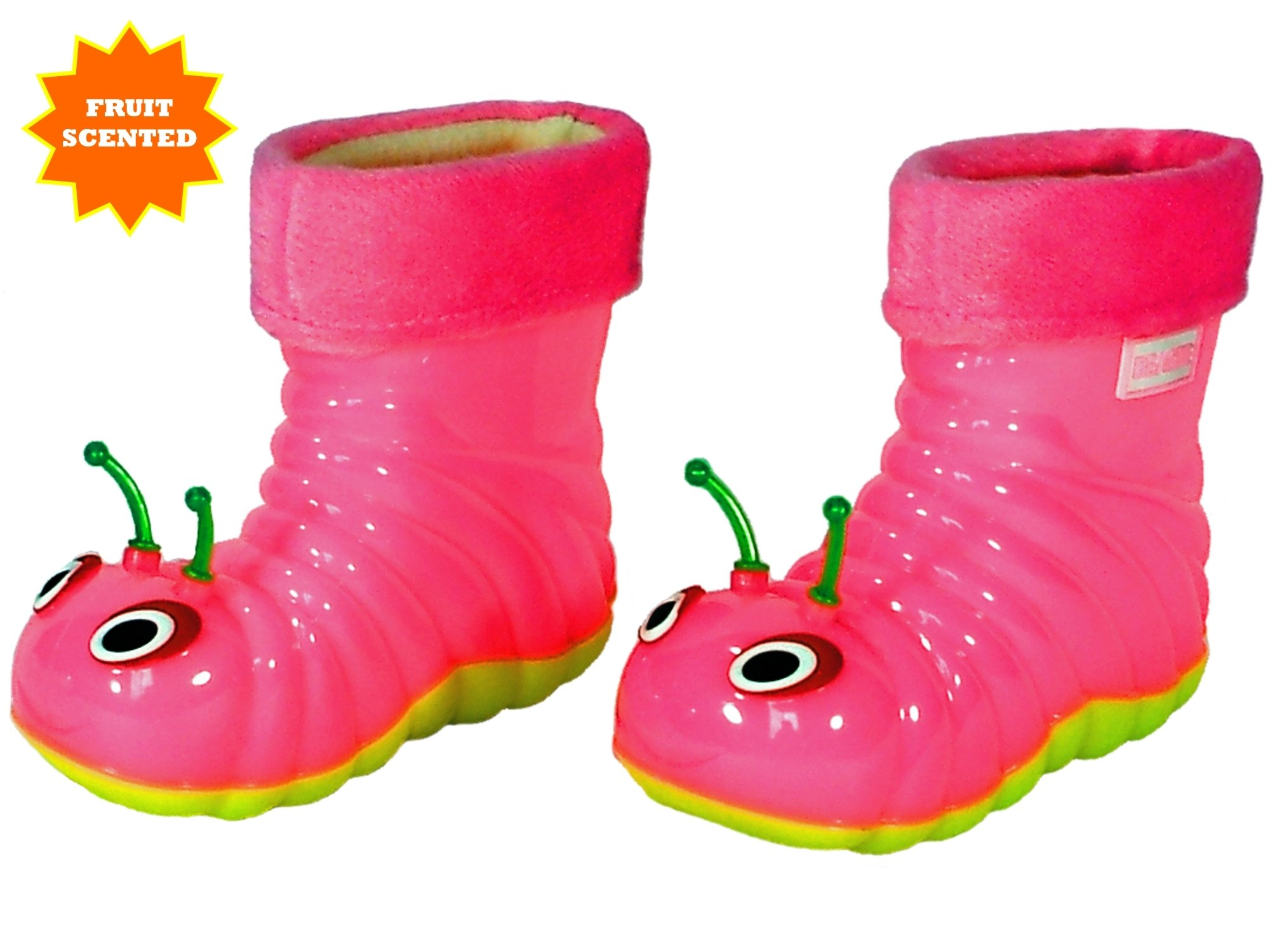 Children's Waterproof Rain Boots Cartoon Animals Toddler/Little Kid (28 (10 M US Toddler), Pink) by Beastie Shoes (Image #3)