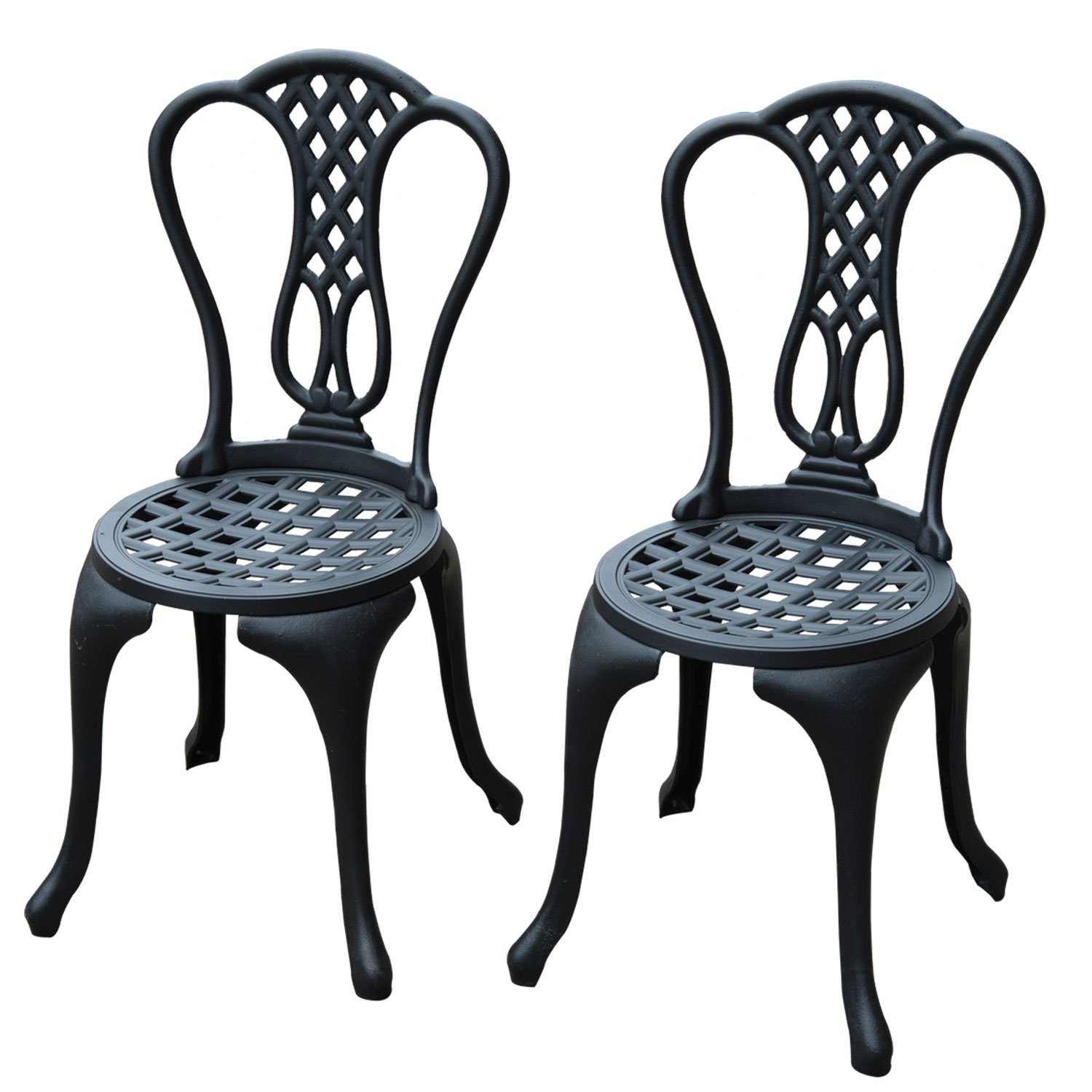 Homcom 3 Piece Patio Cast Aluminium Bistro Set Garden Outdoor Furniture  Table And Chairs Shabby Chic Style: Amazon.co.uk: Garden U0026 Outdoors
