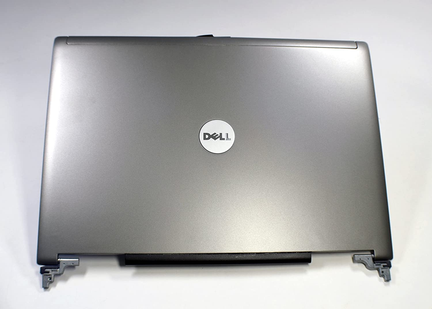 "New JD104 Genuine OEM Dell Latitude D620 D630 D631 14.1"" LCD Back Cover Assembly w/Hinges RE37712 Left Right w/Latch Antenna AMZJX000900 EAZJX000100 Top Lid Latitude Silver Gray Black Trim NG142"