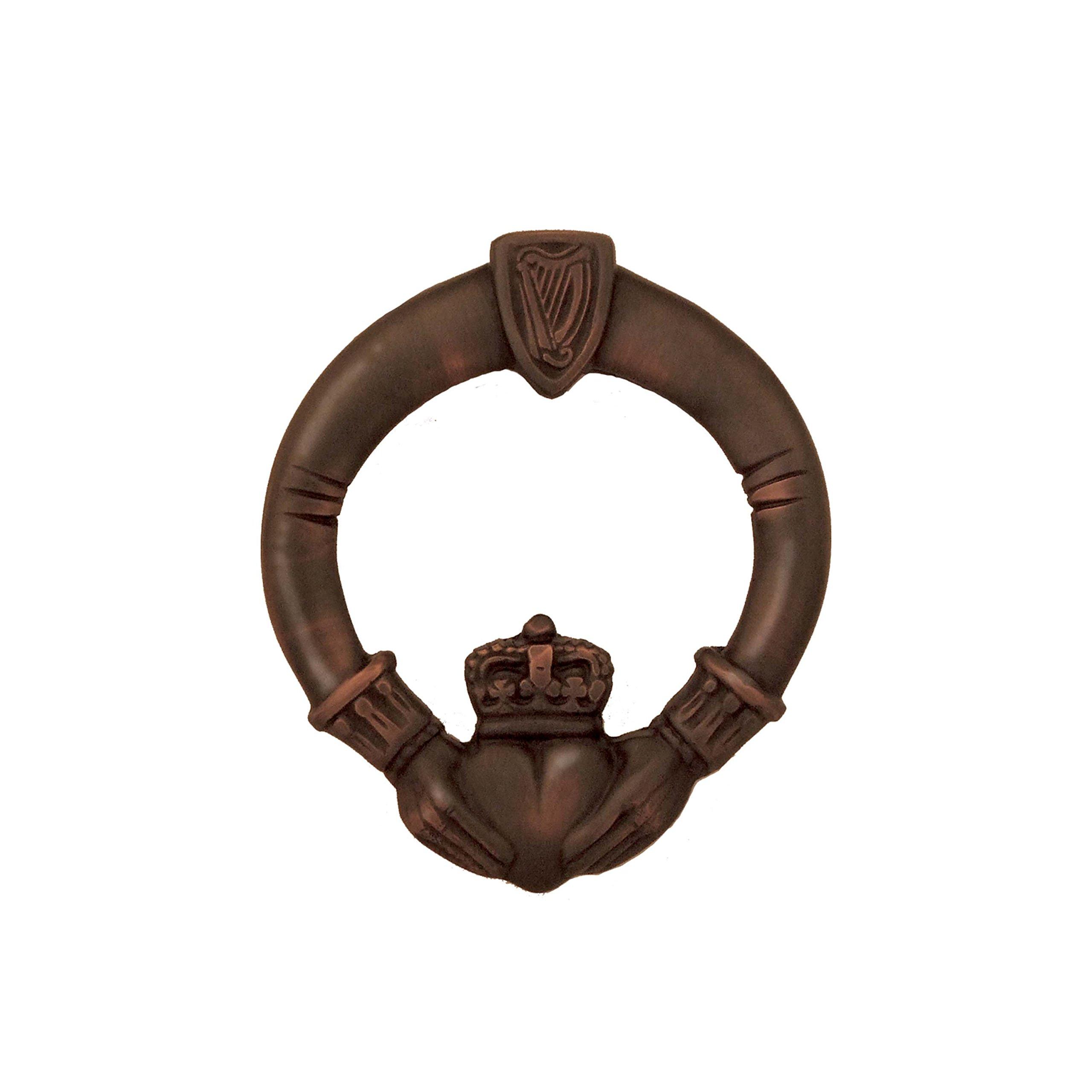 Claddagh Door Knocker - Oiled Bronze (Premium Size)