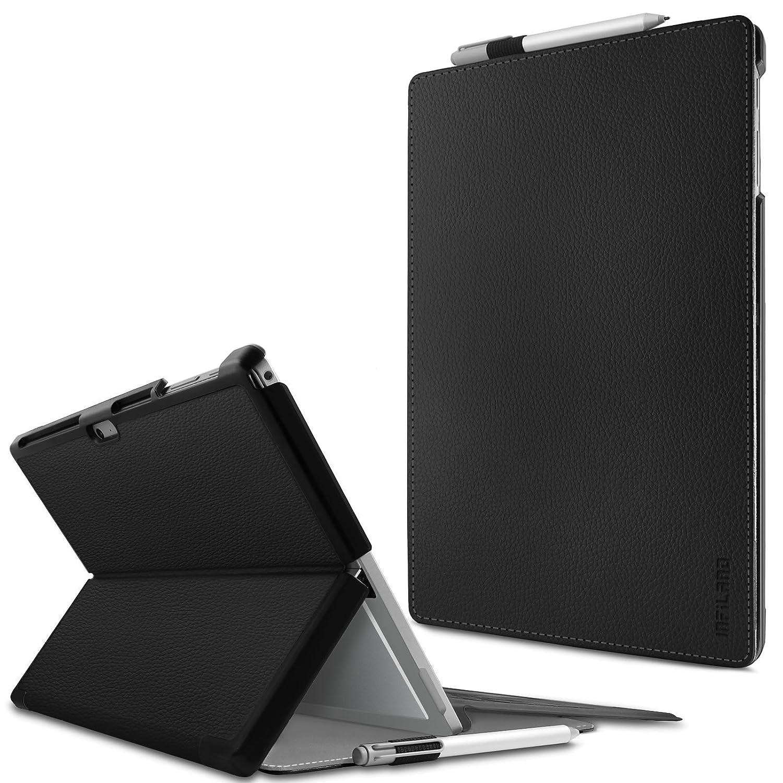 Microsoft Surface Pro 4 / The New Surface Pro 2017 Funda Case, Infiland Folio PU Cuero Cascara Delgada con Soporte para Microsoft Surface Pro 4 12.3 inch ...