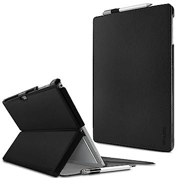 Microsoft Surface Pro 4 / The New Surface Pro 2017 Funda Case, Infiland Folio PU Cuero Cascara Delgada con Soporte para Microsoft Surface Pro 4 12.3 ...