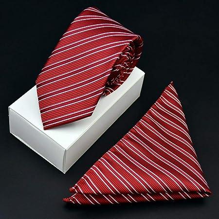 Mon5f Home Corbata de Fiesta de Boda de Raya Blanca roja para ...