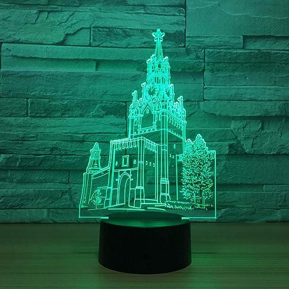 Luz de la noche Castle 3D Led Placa de metacrilato ...