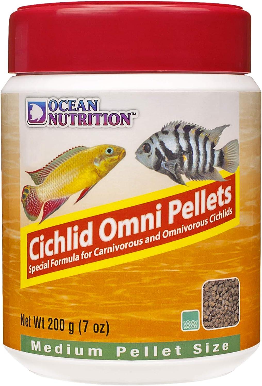 Ocean Nutrition Cichlid Omni Pellets 7-Ounces (200 Grams) Jar - Medium Pellet Size