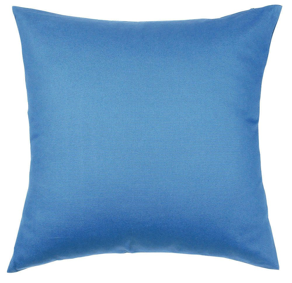 TangDepot Handmade Decorative Solid 100% Cotton Canvas Throw Pillow Covers/Pillow Shams, Many Colors available - (28''x28'', Bright Royal)