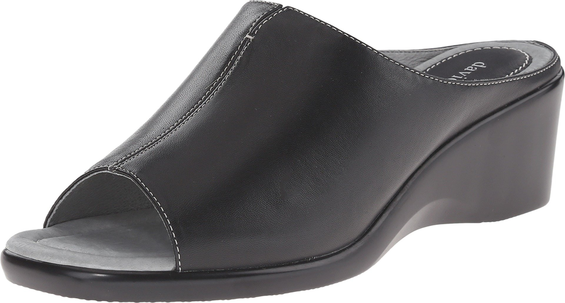 David Tate Women's Gloria Slide Sandal,Black Lamb,10 M US