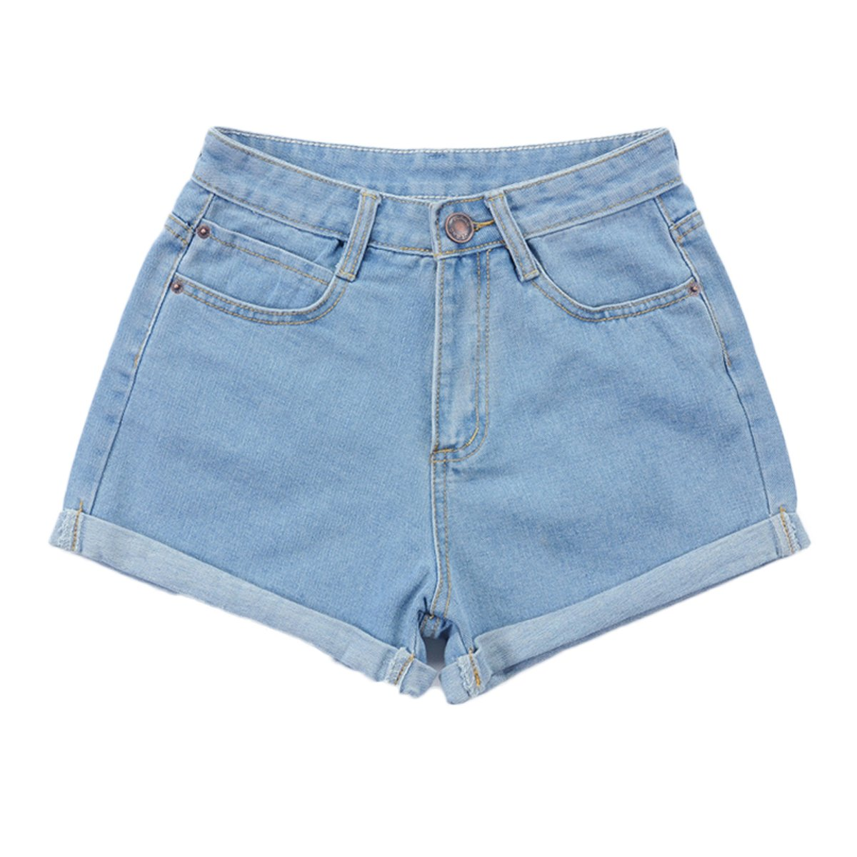 925336a150d6f Womtop Summer Women Shorts Vintage Retro Junior Jean Shorts High Waist  Crimping Denim ...