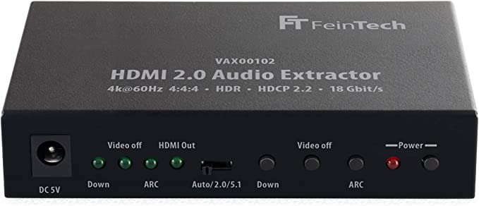 FeinTech VAX00100 HDMI 2.0 Convertidor Audio Extractor Digital ...