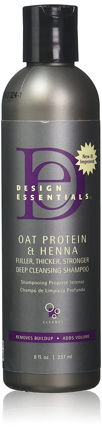 Design Essentials Oat Protein & Henna Deep Cleansing Shampoo For Fuller, Thicker, Stronger, Longer Hair