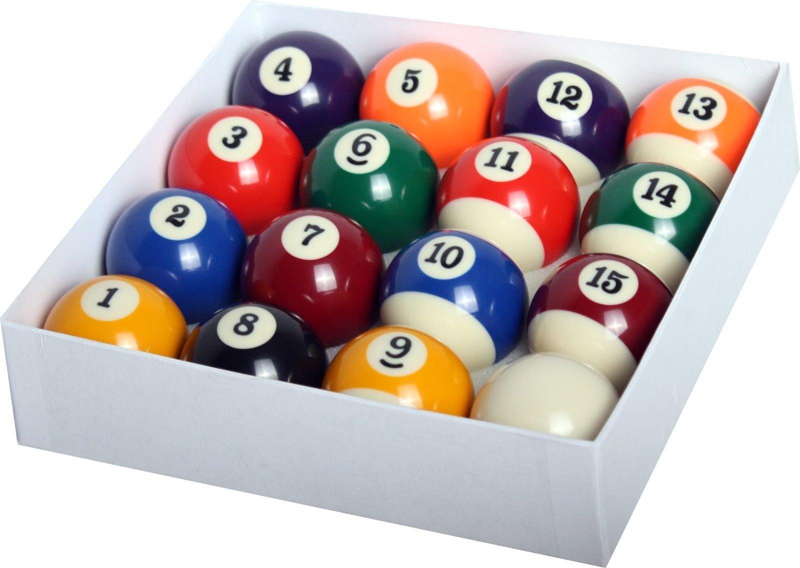 Alek...Shop Deluxe Billiard Pool Ball Set 16 Piece Standard Size 2-1/4'' Shipped In Padded Bag