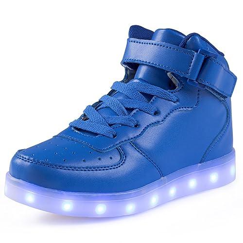 save off 54d20 b5739 FLARUT 7 Farben LED Schuhe USB Aufladen Leuchtschuhe Licht Blinkschuhe  Leuchtende Sport Sneaker Light up Turnschuhe Damen Herren Kinder Shoes
