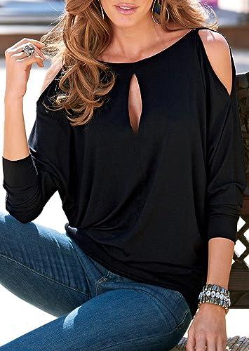 Vin beauty wlgreatsp Mujeres Mujer Slim Fit Sheathy Sólido de La Manera del Cuello O Casual Ahueca H...