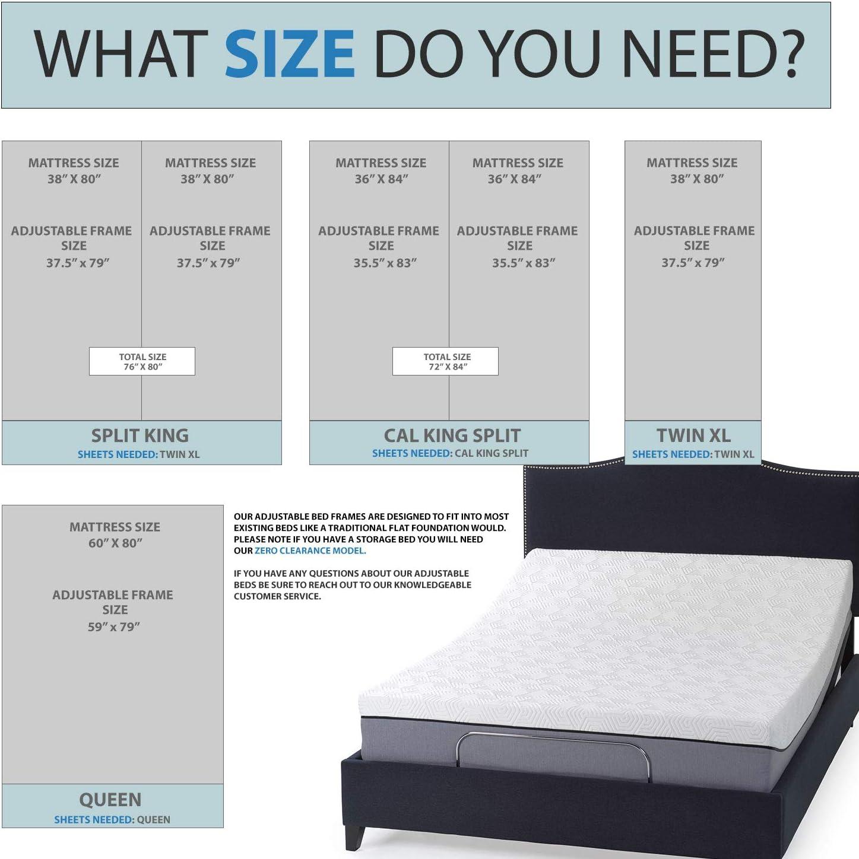 Amazon Com Cal King Split Adjustable Bed Base With Wireless