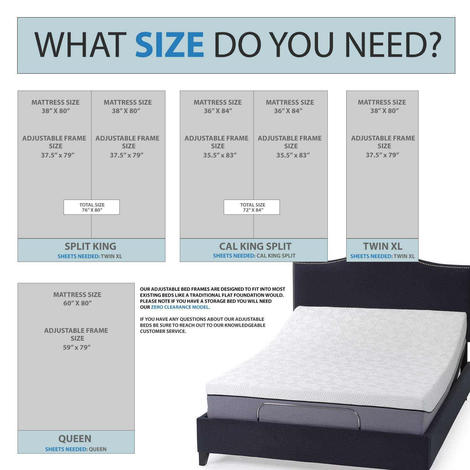 Amazoncom Split King Adjustable Bed Base With Wireless Remote Head