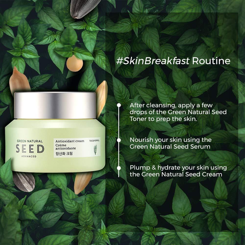 Amazon.com: THE FACE SHOP Green Natural Seed Anti Oxid Cream: Premium Beauty