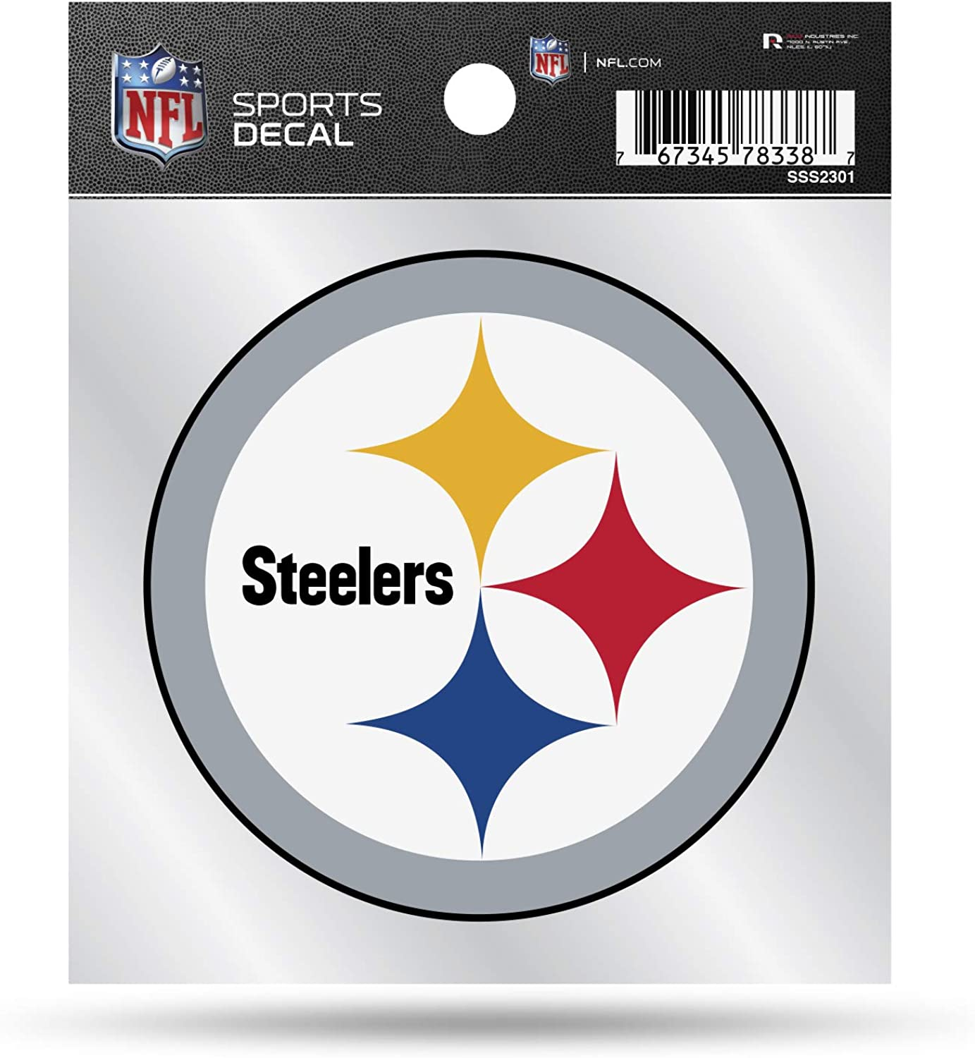 NFL Pittsburgh Steelers Primary Logo 4x4 Decal, Team Color, Size of individual decal will vary