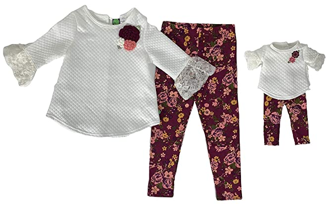 Amazon.com  Dollie   Me Girls  Legging Set and Matching Doll Outfit   Clothing 2ff2fedd4