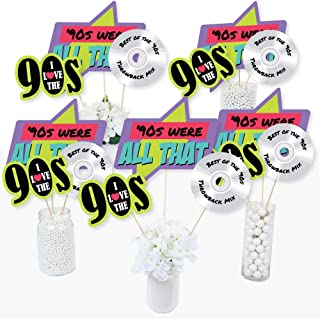product image for 90's Throwback - 1990s Party Centerpiece Sticks - Table Toppers - Set of 15