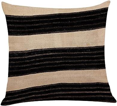 Fghyh - Funda de cojín (algodón, 45 x 45 cm), Paño, H, Talla única ...