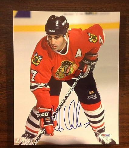 wholesale dealer 28b7b aa8b3 Chris Chelios Autograph 8x10 Autographed Signed Photo ...