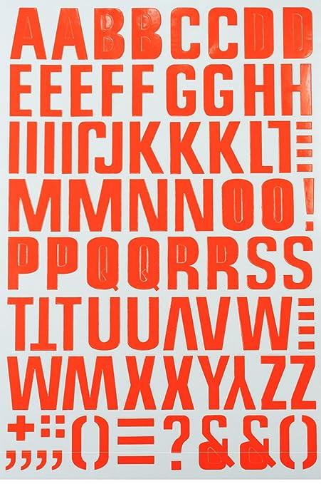 jazzstick large alphabet letters decorative sticker 5 sheets orange 14b02