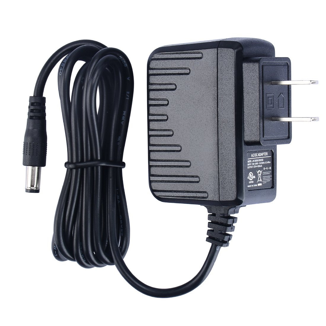 Pryeu 6w Power Supply 120v Ac To 12v Dc 500ma Charger Transformer Ps2 Schematic Adapters Ul Listed With Jack 55mm X 21mm