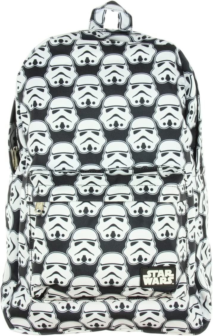 Loungefly Star Wars Storm Trooper All Over Black White Backpack
