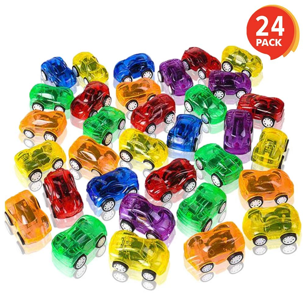 """TREAT BOXES GOODY BAGS TOY LOT OF 24 MINI PULL BACK CARS 2.25/"""" PARTY FAVOR"""